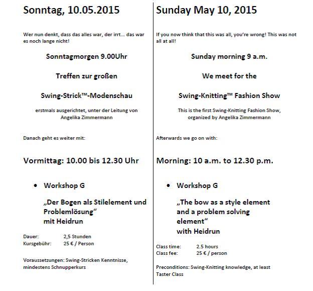 Helmstedt 2015 the program of the 5th international swing knitting he30 he32 fandeluxe Gallery